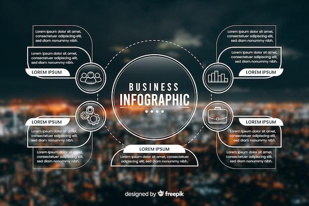 Biznesowy infographic szablon z fotografią Darmowych Wektorów