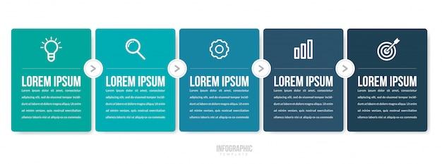 Biznesowy infographic szablon Premium Wektorów