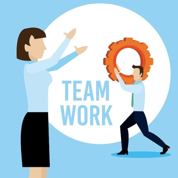 Biznesowy Pracy Zespołowej Mienia Przekładni Wektorowy Ilustracyjny Graficzny Projekt Premium Wektorów