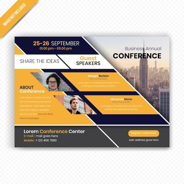 Biznesowy Projekt Ulotki Konferencyjnej Premium Wektorów