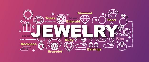 Biżuteria wektor modny sztandar Premium Wektorów
