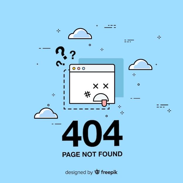 Błąd 404 Koncepcja Strony Docelowej Darmowych Wektorów