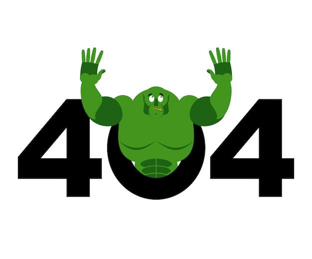 Błąd 404, Nie Znaleziono Strony Dla Witryny Z Trollem Premium Wektorów