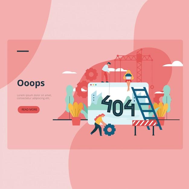 Błąd 404 Niedostępna Strona Internetowa Premium Wektorów