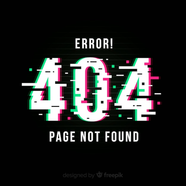Błąd błędu 404 strony Darmowych Wektorów