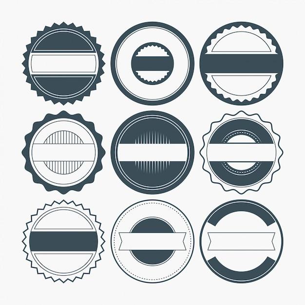 Blank badge shapes Premium Wektorów