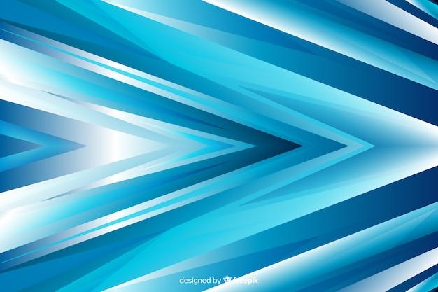 Błękitna abstrakcjonistyczna strzała kształtuje tło Darmowych Wektorów