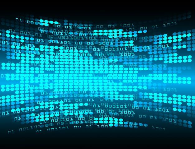 Błękitnego Cyber Obwodu Technologii Pojęcia Przyszłościowy Tło Premium Wektorów