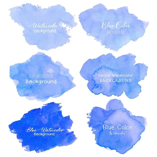 Błękitny abstrakcjonistyczny akwareli tło. Premium Wektorów