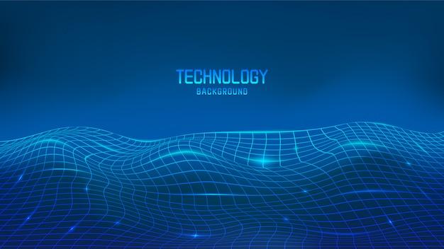 Błękitny abstrakcjonistyczny technologii tło z przestrzenią dla teksta Premium Wektorów