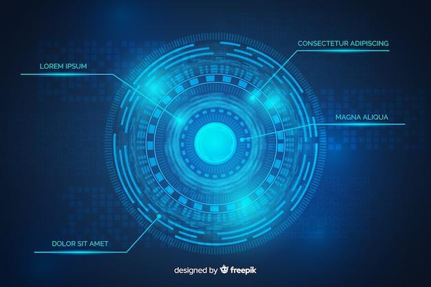 Błękitny Abstrakcjonistyczny Technologii Tło Darmowych Wektorów