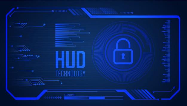 Błękitny Cyber Obwodu Technologii Pojęcia Przyszłościowy Tło Premium Wektorów