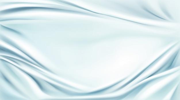 Błękitny jedwab drapujący tkaniny tło, tekstylna rama Darmowych Wektorów