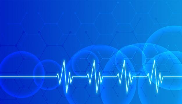 Błękitny Opieki Zdrowotnej I Nauk Medycznych Tło Z Tekst Przestrzenią Darmowych Wektorów