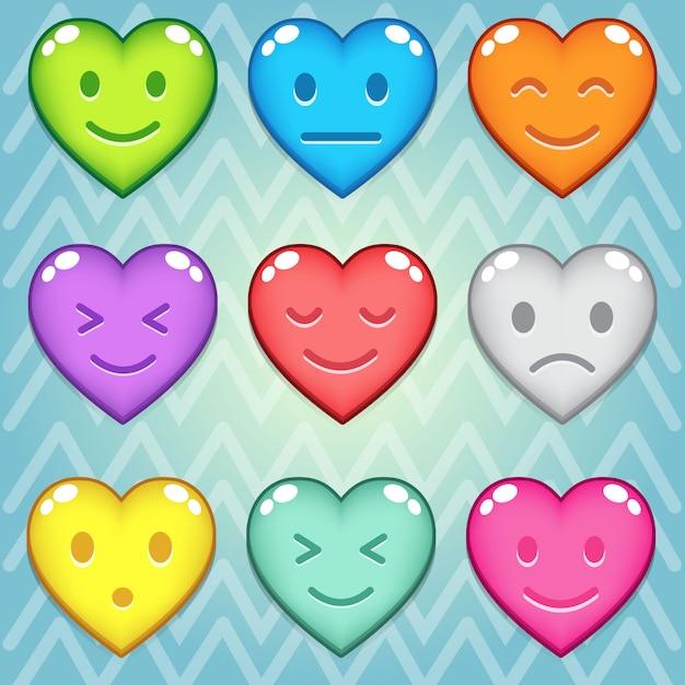 Blok cukierków puzzle kolorowe przycisk Premium Wektorów