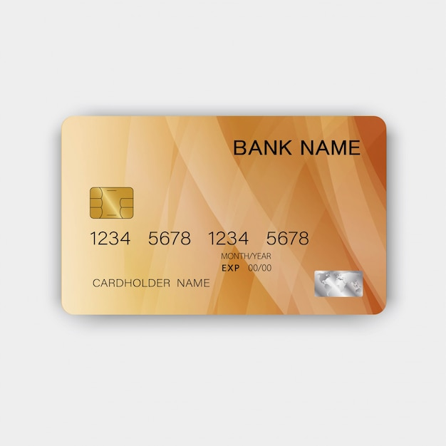 Błyszcząca, Luksusowa Plastikowa Karta Kredytowa Premium Wektorów