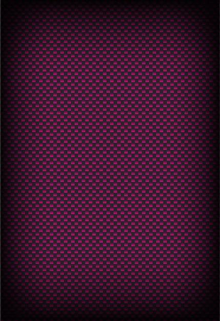 Błyszczące różowe i ciemnoszare tło z włókna węglowego Premium Wektorów