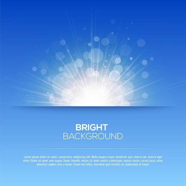 Błyszczące Słońce Wektor, Promienie Słoneczne, Promienie Słoneczne, Tło Bokeh Premium Wektorów