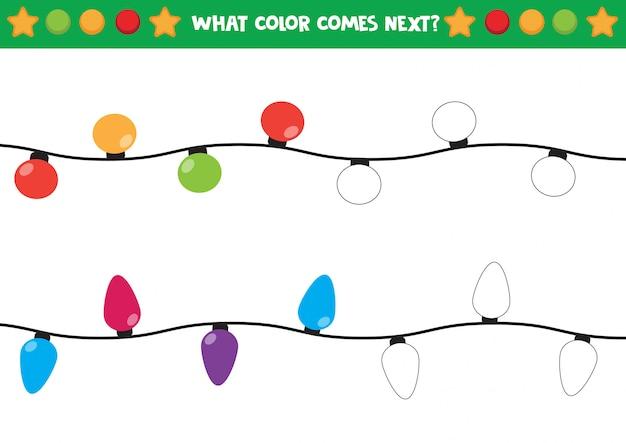 Błyszczący świąteczny arkusz do kolorowania Premium Wektorów