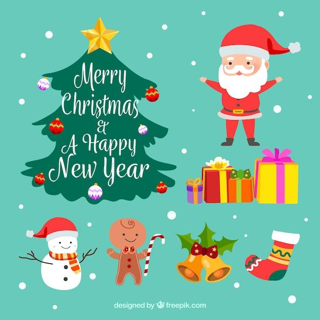 Boże Narodzenie Rysunki Z Pięknym Stylu Wektor Darmowe Pobieranie