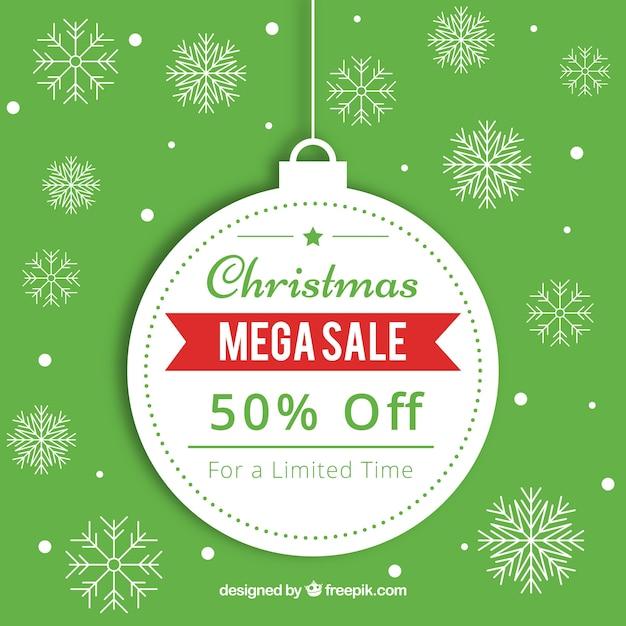Boże Narodzenie sprzedaż tło w stylu retro Darmowych Wektorów