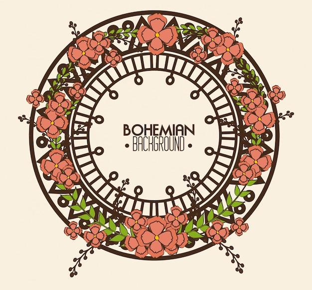 Bohemian Bacground Design Premium Wektorów