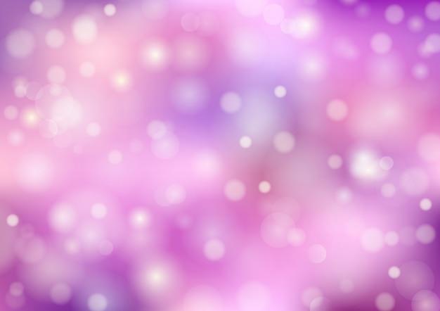 Bokeh Plamy Tło. Kolor Pastelowy, Fioletowy I Różowy. Streszczenie Wektor Premium Wektorów