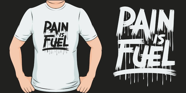 Ból Jest Paliwem. Unikalny I Modny Design Koszulki Covid-19. Premium Wektorów