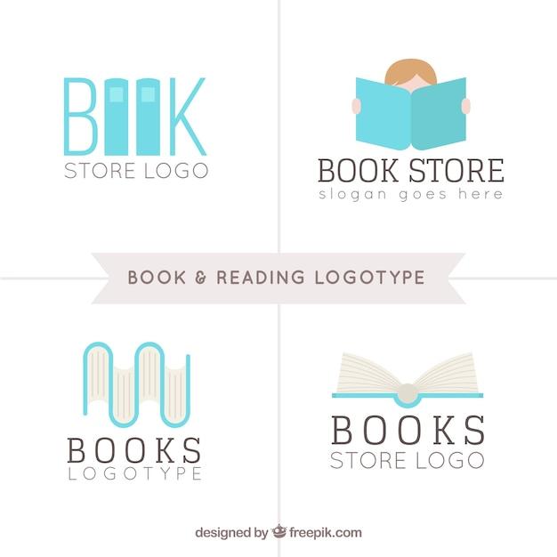Book store kolekcja logo Darmowych Wektorów