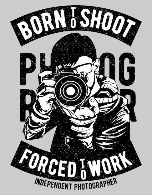 Born To Shoot Premium Wektorów
