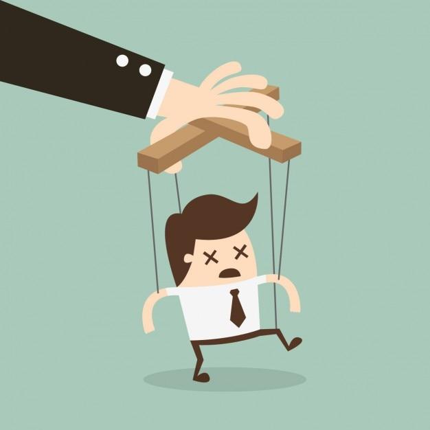 Boss Manipuluje Pracownika Darmowych Wektorów