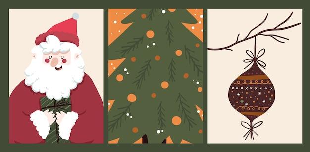 Boże Narodzenie 2021 święto Kalendarza Kolekcja Zestaw Naklejek Premium Wektorów