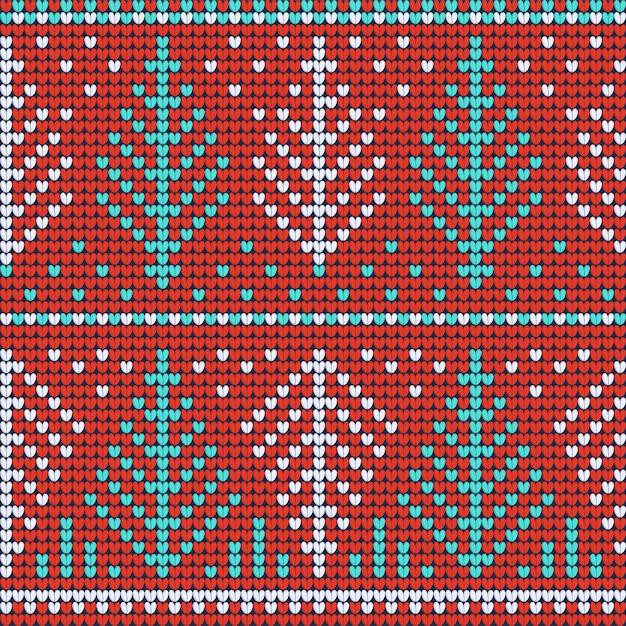 Boże narodzenie brzydki sweter czerwony wzór Premium Wektorów