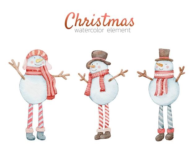 Boże Narodzenie Element Akwarela Ręcznie Malowany Premium Wektorów