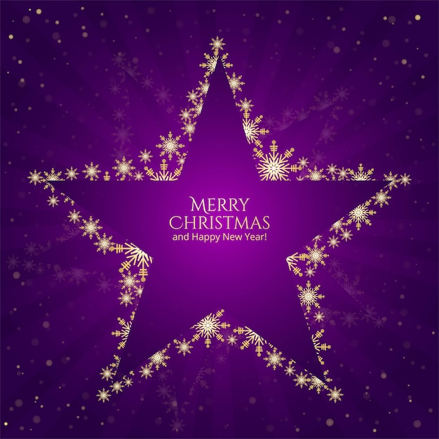 Boże Narodzenie Gwiazd Płatki śniegu Na Fioletowym Tle Darmowych Wektorów