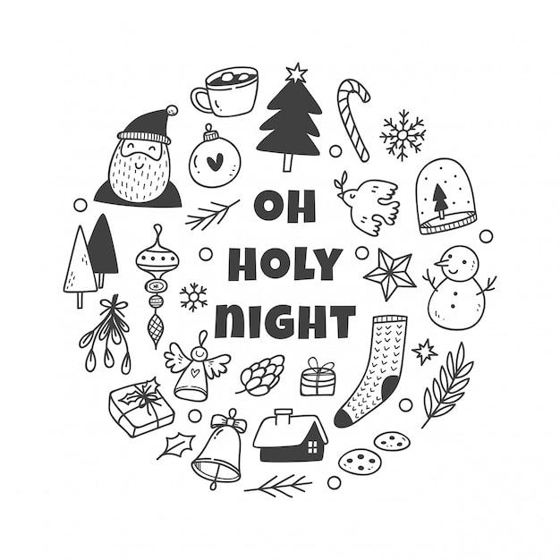 Boże Narodzenie ładny Zestaw Premium Wektorów