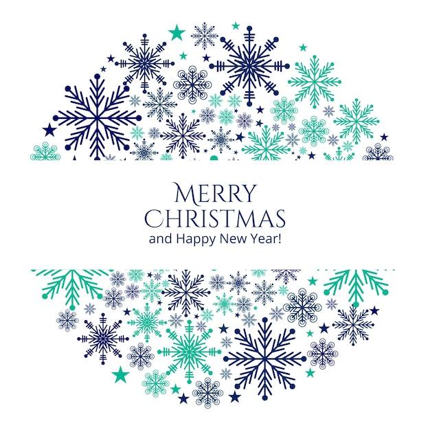 Boże Narodzenie Płatki śniegu Pozdrowienia Tło Karty Darmowych Wektorów