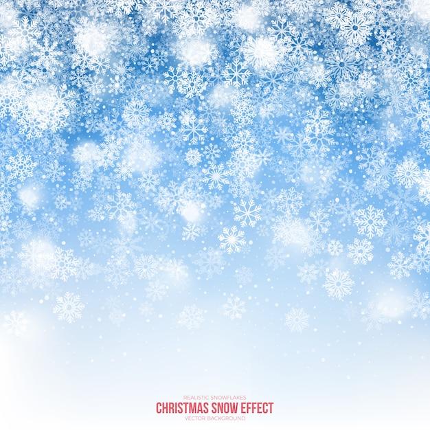Boże narodzenie śniegu efekt tła Premium Wektorów