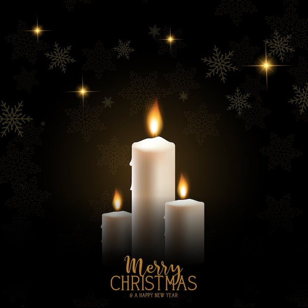 Boże Narodzenie świeca Tło Darmowych Wektorów