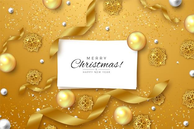 Boże Narodzenie Tło Z Efektem Złotego Brokatu Darmowych Wektorów