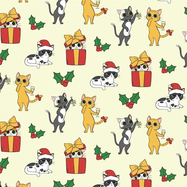 Boże Narodzenie Zabawny Wzór Darmowych Wektorów