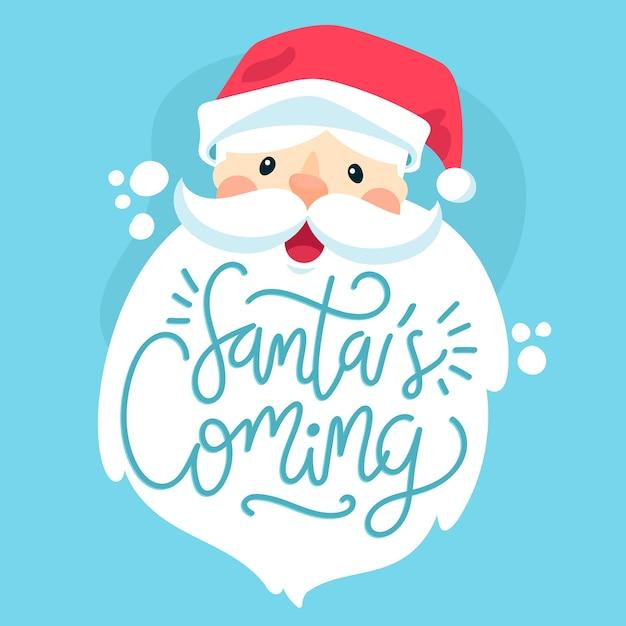 Boże Narodzenie Znak świętego Mikołaja Z Napisem Darmowych Wektorów