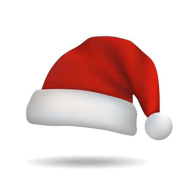 Bożenarodzeniowy święty Mikołaj Kapelusz Odizolowywający Premium Wektorów