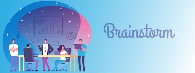 Brainstorm, Szablon Transparent Pracy Zespołu Biznesowego Premium Wektorów