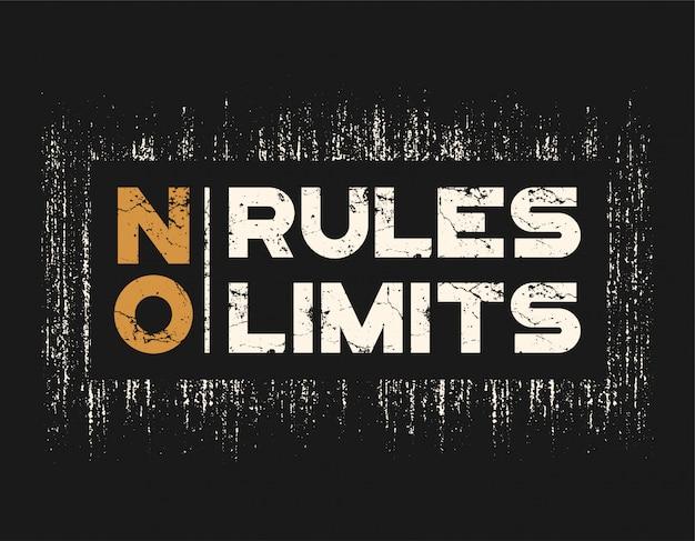 Brak Zasad Bez Ograniczeń Koszulka I Odzież Z Efektem Grunge Premium Wektorów