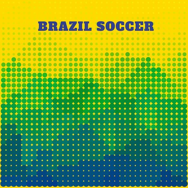 Brazil soccer ilustracji wektorowych projektowania Darmowych Wektorów
