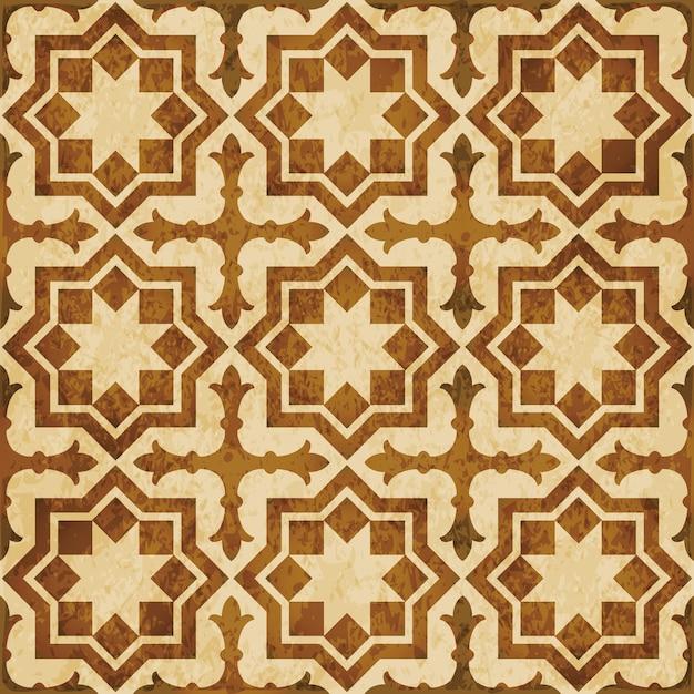 Brązowa Akwarela Tekstury, Wzór, Islamska Gwiazda Krzyż Geometria Premium Wektorów