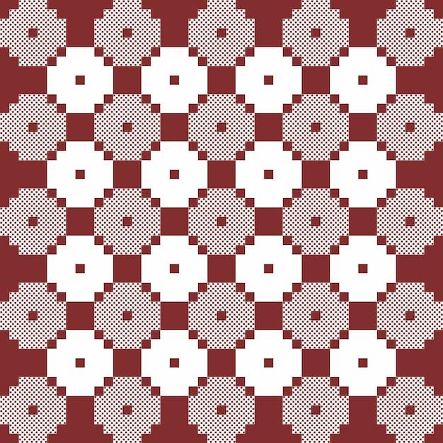 Brązowy I Biały Monochromatyczny Wektor Wzór Kołdry. Powtórz Projekt Dla Nadruków, Tekstyliów, Dekoracji, Tkanin, Odzieży, Opakowań Premium Wektorów
