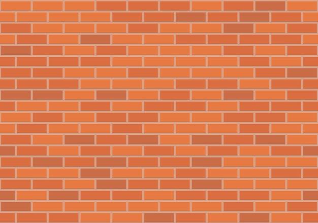 Brązowy Mur Z Cegły Wzór, Ilustracja Premium Wektorów