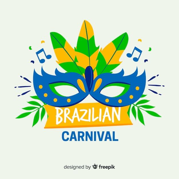 Brazylijski karnawał tło Darmowych Wektorów